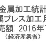 【統計】金属加工統計 金属プレス加工月報 2016年7月 グラフで見るシリーズ