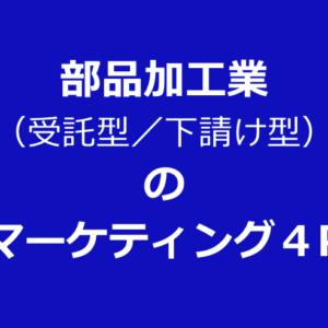 部品加工業 (受託型/下請け型) の マーケティング4P